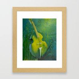 """Sunken Dreams"" Upright Bass Instrument Painting Framed Art Print"