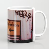 manchester Mugs featuring Manchester - Joy Diversion by Sami Kelsh