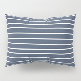 Abstract Stripes Pattern, Navy Blue and White Pillow Sham