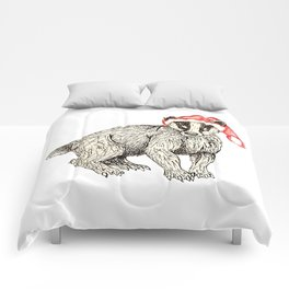 Christmas Honey Badger Comforters