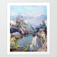 tchmo Art Prints featuring Untitled 20120323f (Landscape) by tchmo