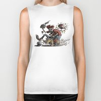 mario kart Biker Tanks featuring Death Kart by Calakka