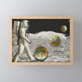 Moon Shot #collage Framed Mini Art Print