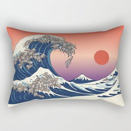 The Great Wave of Sloth Rectangular Pillow
