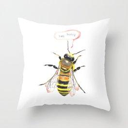 hey honey Throw Pillow