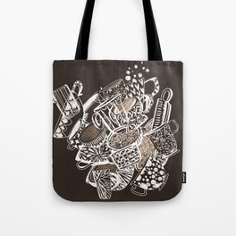 Teacup extravaganzza. Illustration wall art Tote Bag