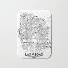 Minimal City Maps - Map Of Las Vegas, Nevada, United States Bath Mat