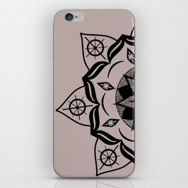 Mandala black iPhone Skin