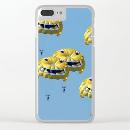 funny swarm Clear iPhone Case