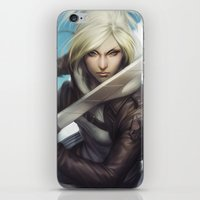 annie hall iPhone & iPod Skins featuring Annie by Artgerm™