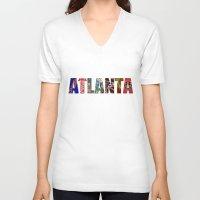 atlanta V-neck T-shirts featuring ATLANTA by Mental Activity