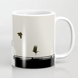 Rail Call - Graphic Birds Series, Plain - Modern Home Decor Coffee Mug