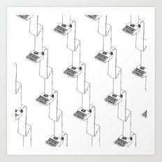 continuous typing pattern Art Print