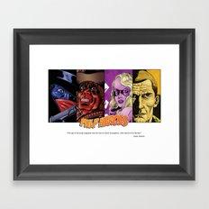 Pulp Heroes Tribute Framed Art Print