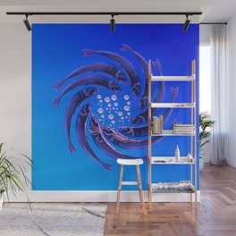 Fishes Dancing Wall Mural
