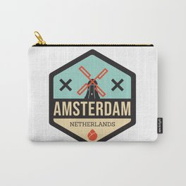Amsterdam Windmill Badge XXX Carry-All Pouch