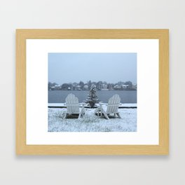 Christmas Snow Squared Framed Art Print