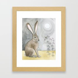Hare and Cricket Framed Art Print