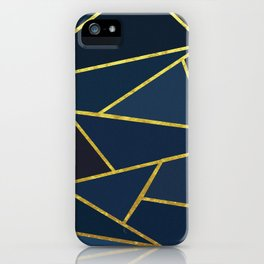 The Color of Navy And Gold iPhone Case