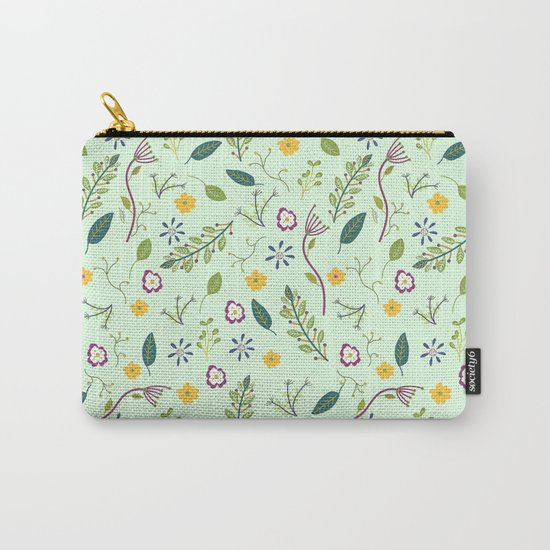 Floral Greenery Pattern I Carry-All Pouch