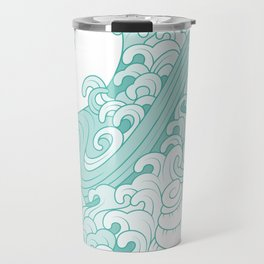 Mediterranean mood | Cáscaras del mar y olas Travel Mug