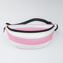 Pale Sweet Lilac and White Wide Horizontal Cabana Tent Stripe Fanny Pack