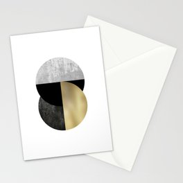 Moon Phase, Mid Century Modern,Scandinavian Abstract Stationery Cards
