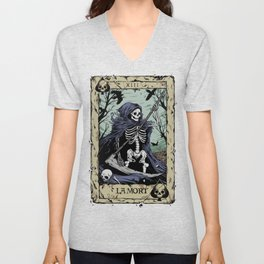 Death Card Unisex V-Neck