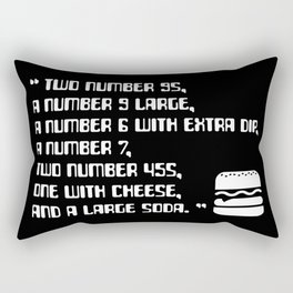 Big Smoke's Order (2 number 9s) gta san andreas drive thru mission typography text with burger icon Rectangular Pillow