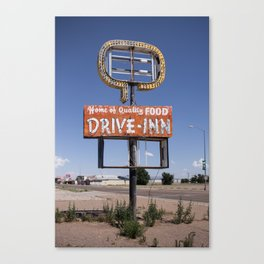 Tucumcari: Drive-inn Canvas Print