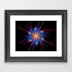 Silkweave / Neon Sigil 2 Framed Art Print