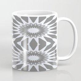 Flannel Gray & White Pinwheel Flower Coffee Mug