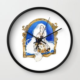 The White Cat Wall Clock