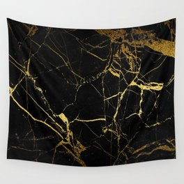 back & gold marble Wall Tapestry