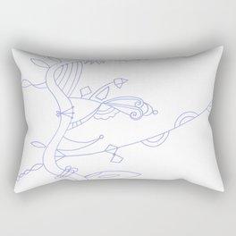 Alien Plant Life Rectangular Pillow