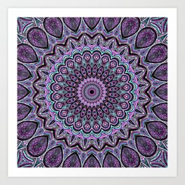Blackberry Bliss - Mandala Art Art Print