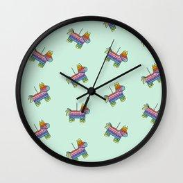 Pinata Party | Mint Wall Clock