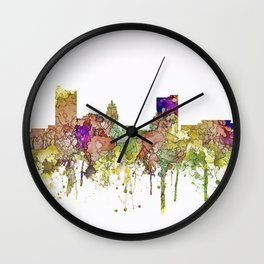 Fort Wayne, Indiana Skyline Wall Clock