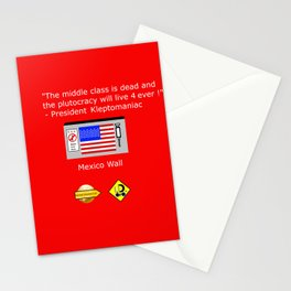 Plutocracy 4 ever Stationery Cards