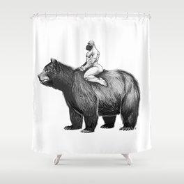 Bear Ride Shower Curtain