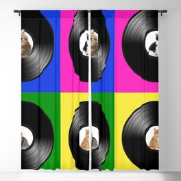Hey Cat Pop Art Blackout Curtain