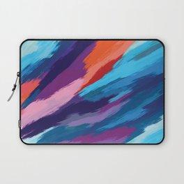 Colorful Brushstroke Digital Painting Laptop Sleeve