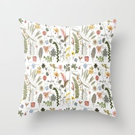 Collectors Garden Sketchbook Throw Pillow