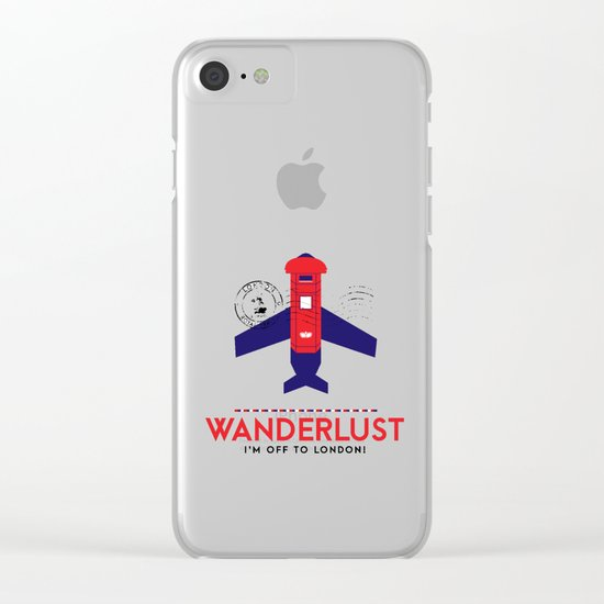 Royal Travel - London Wanderlust Clear iPhone Case