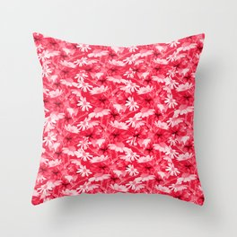 Pink chamomiles Throw Pillow