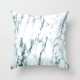 Green Marble Look Throw Pillow