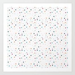 Сolorful dots Art Print