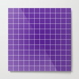 Grape Grid Metal Print
