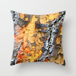 Bark Cracks Throw Pillow