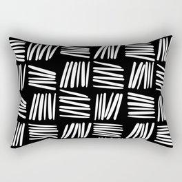 Tick 01 / Black and white print Rectangular Pillow
